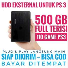 HDD 500GB Harga Mantap Murah BONUS FULL 110 GAME GAME FAVORITE PS3