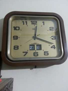 Antique wall clock japan watch 4 jewels vintage
