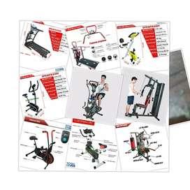 Jual Alat Fitness Treadmill//Sepeda Statis//Home Gym Merk Total Gym