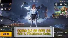 Akun pubgm level 68 set 34