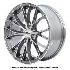 NAPLES Hsr Velg Mobil Ring 16 Lubang 4 Grey Polish
