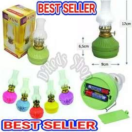 Lampu Emergency Teplok/Ublik 2 LED Tenaga Baterai AA 2 Pcs