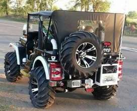 Modified black jeep