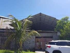 Tanah Bonus Bangunan Rangka Baja Cocok Untuk Gudang di Jln Gatsu Barat