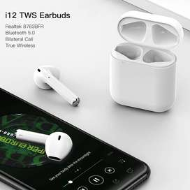 TWS-i12 Wireless Bluetooth Earphones In-Ear Music Earbuds Stereo Heads