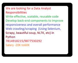 We are looking for a Data Analyst  Responsibilities Write effective, s