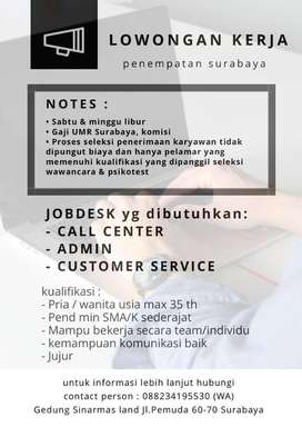 Lowongan Kerja Kantoran Gaji UMK Surabaya