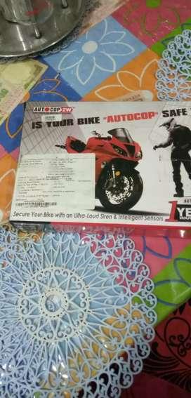 Auto cop bike central lock system