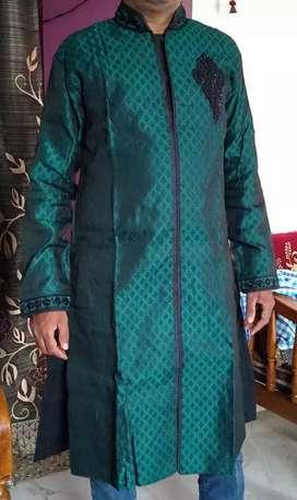 Green and black Sherwani
