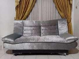 Sofa Bed Berkualitas Abu Silver