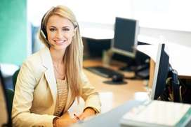 Female Reception Cum Back office