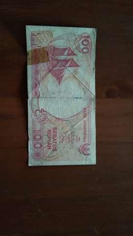 Barang koleksi uang Rp 100