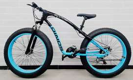 DINOS FAT TYRE BRANDED BICYCLE WITH 21 SHIMANO GEARS