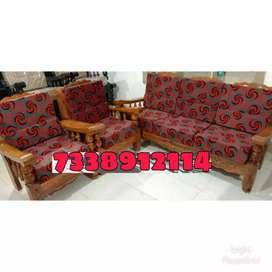 Brand new Assam teak wood sofa set 3+1+1