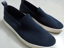 Ajio men blue coloured sneakers Flat.