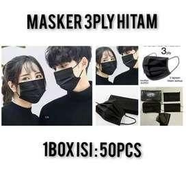 Masker 3fly ear loop HITAM