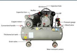 100L Air compressor double piston 3Hp motor Japan Bearing