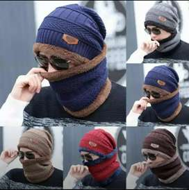 Winter collection fashion warm neck Cap and Mask