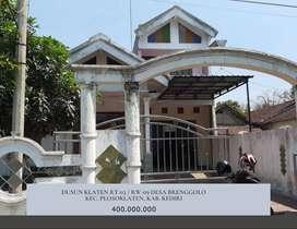 Dijual Rumah Dusun Klaten Plosoklaten Kediri