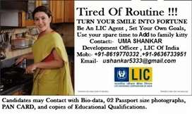 Recruitment of ADVISORS / AGENTS in LIC Of India