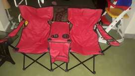 Portable Twin Chairs with Table