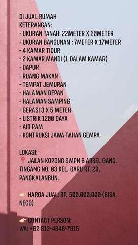 Rumah Dijual daerah Kalimantan Tengah