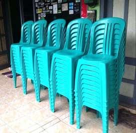 Tempat Duduk Bangku Kursi Susun Plastik Sender Sandaran RT RW Tamu