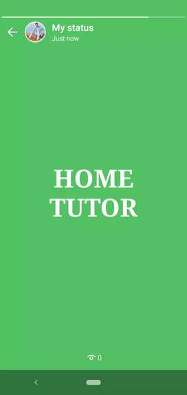 For Home tutor contact me.