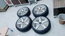 Alloy rims + tyres for sale