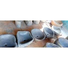 Bak washtafel dari batu alam