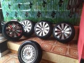 Velg HSR 5 set, Cocok Untuk Innova, Xpander, Rush, HRV, CRV dsb