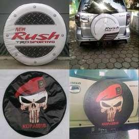 Cover/Sarung Ban Ford Ecosport/Rush/Terios shark jeep CRV blue Mau bik