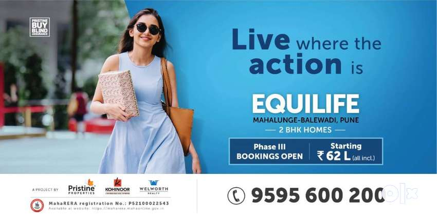 Get Spacious 2 BHK Home at 62 Lkah(All inclusive),Nr Balewadi 0
