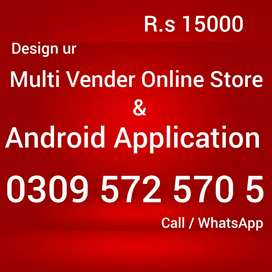 Design multivender ecommerce website online store android application