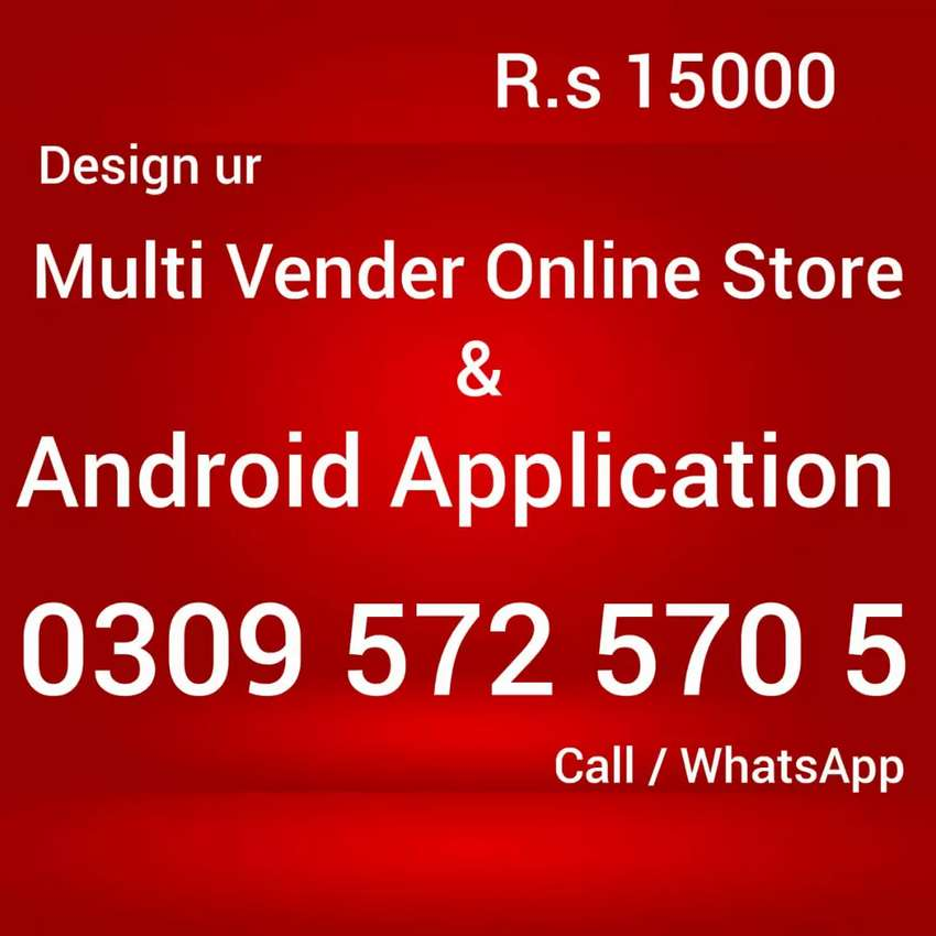 Design multivender ecommerce website online store android application 0