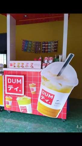 Booth Dum thai tea dan.perlengkapan nya