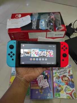 Console Nintendo Switch bekas pemakaian bocah