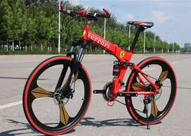 Ferrari 21 gears folding cycle totally New Cycle