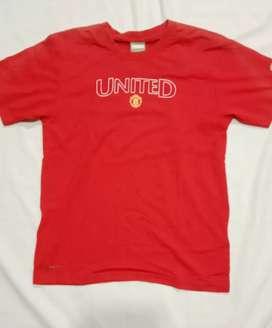 Kaos anak NIKE FITDRY Original UNITED Merah Size 140 10-12 tahun