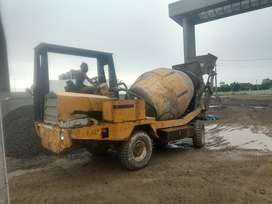 Concrete mixer (3 cubic meter capacity),  new engine installed (2019).