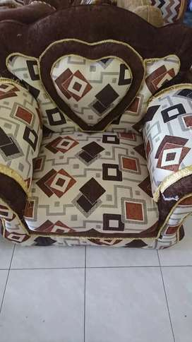 Sofa furniture ruang tamu love coklat +meja bord