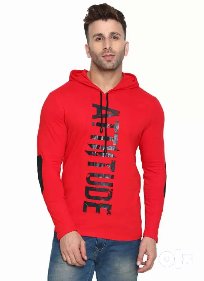 Men's Hoodies Attitude Printed 0