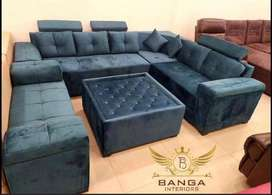 L SHAPE SEVEN SEATER SOFA AT FACTORY PRICE