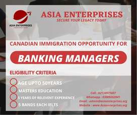 Canada is looking for Bankers