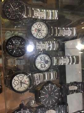 Jam tangan swiss cewek chrono full body metal
