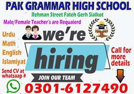 JOB FOR TEACHERS