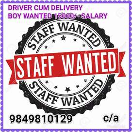 Wanted delivery and driver person contact now