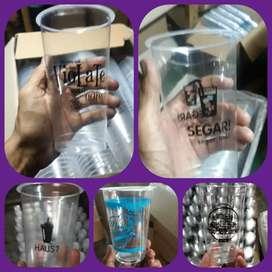 Grosir Gelas plastik Thai Tea Sablon/Printing (GELAS CUP PLASTIK)22oz