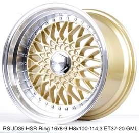 Velg original RS JD35 HSR R16X8/9 H8X100-114,3 ET37/20 GOLD/ML