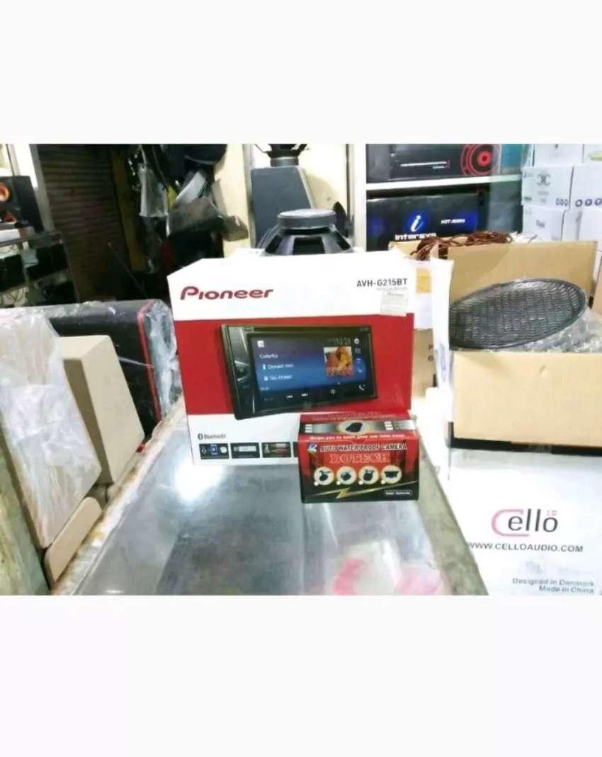 Paket audio. DobelDin Pioneer G225BT + Kamera Mundur LED 0